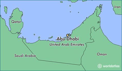 abu dhabi map location where is abu dhabi the united arab emirates abu dhabi