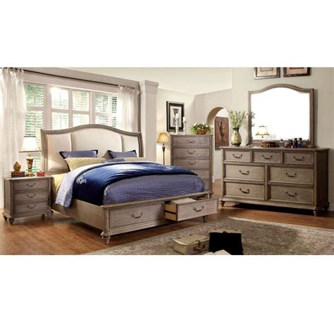 norco transitional style rustic weathered oak finish 6