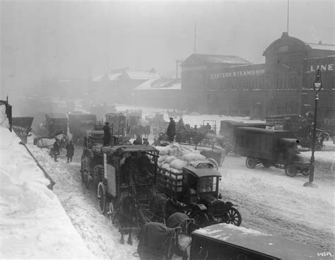 worst snowstorms in history winter storm 1912 photos worst snowstorms in new york