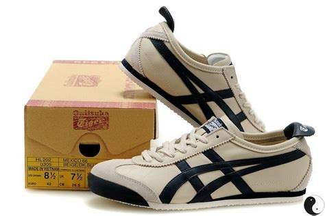 mens womens onitsuka tiger mexico 66 sport shoes beige