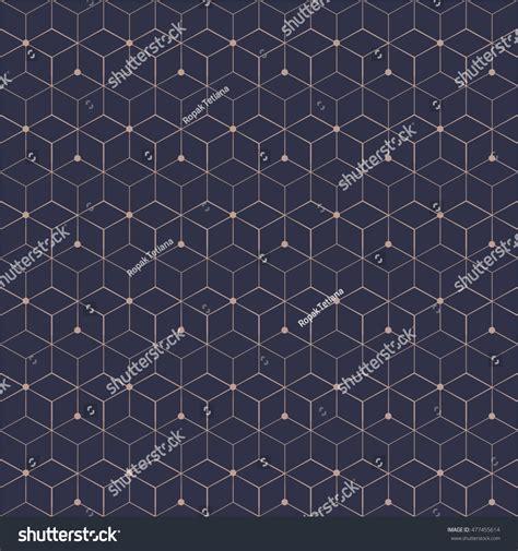 geometric pattern grid grid seamless pattern geometric cube star stock vector