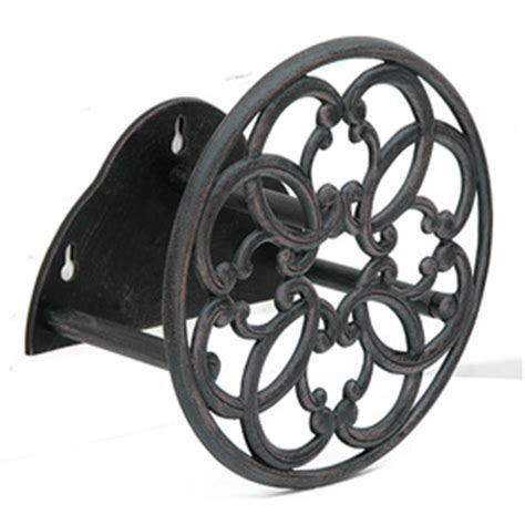 Shop Garden Treasures Steel 100 Ft Wall Mount Hose Reel At Wall Mount Garden Hose Reel Metal