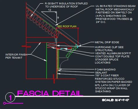 Metal Awnings For Doors Roof Fascia Edge Detail Cad Files Dwg Files Plans