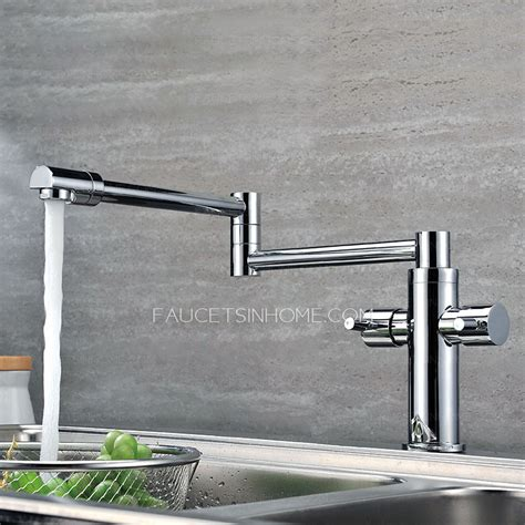 High End Kitchen Faucets High End Copper Rotatable Folding Kitchen Pot Filler Faucets