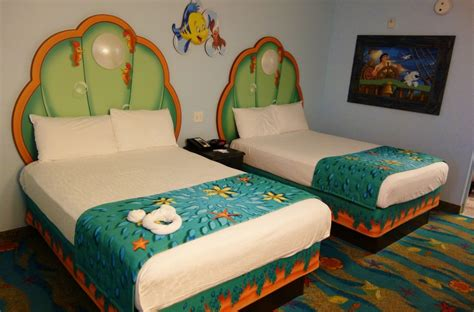 mermaid room of animation photo tour of standard mermaid rooms at disney s of animation resort