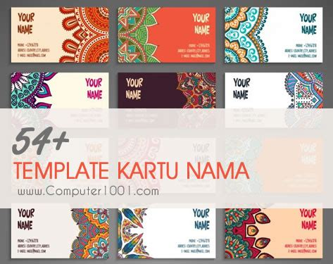 download template kartu nama microsoft word download gratis 54 template kartu nama terbaru computer 1001