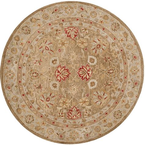 rugs 6 ft safavieh antiquity brown beige 6 ft x 6 ft area rug at822b 6r the home depot