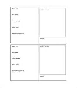 Cards Templates Free by Trading Card Template 21 Free Printable Word Pdf Psd