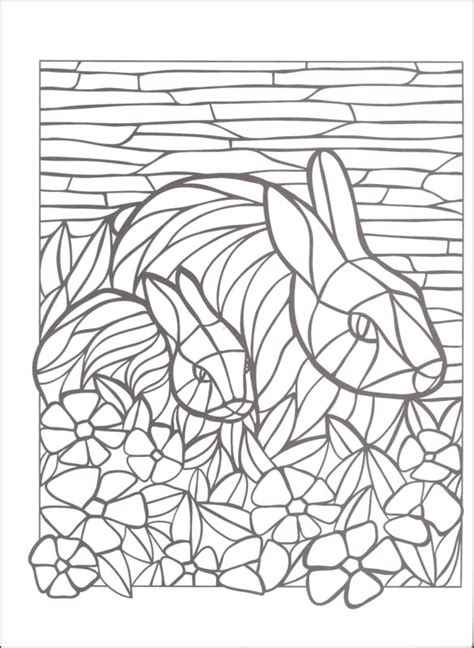 free coloring pages of animal mosaics