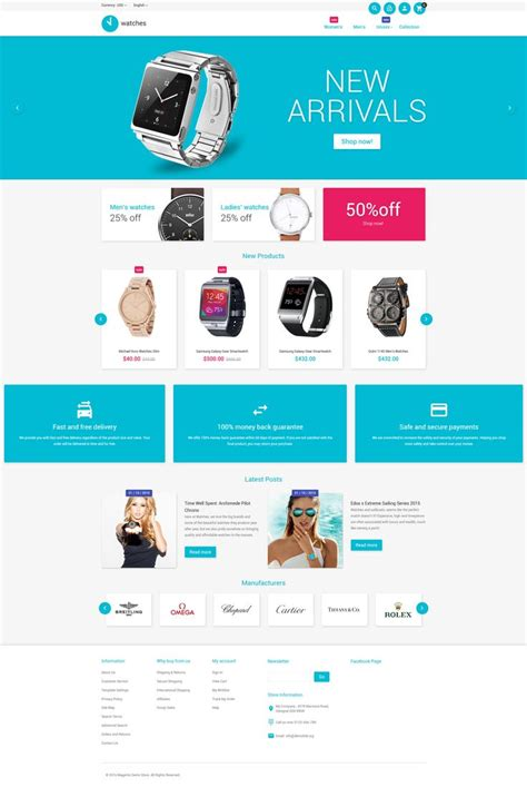 190 Best Magento Themes Images On Pinterest Website Template Design Web And Role Models Magento Website Templates