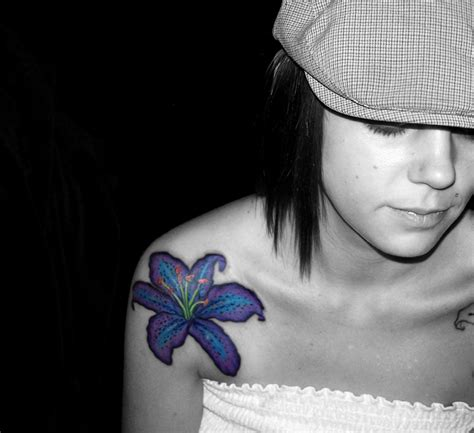 Hibiscus Flower Tattoos Tons Of Ideas Designs Pictures Blue On Shoulder
