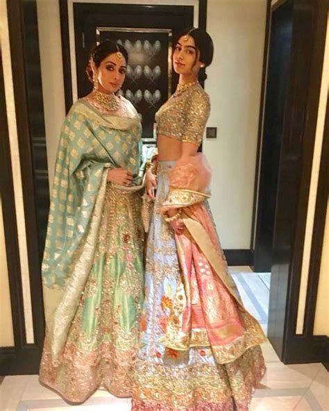 sridevi daughter photos sridevi with khushi kapoor and manish malhotra last