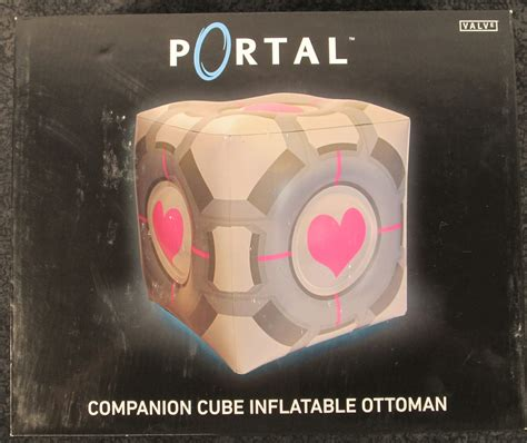 companion cube ottoman crowded coop portal 2 companion cube inflatable ottoman
