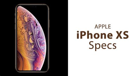 apple iphone xs specs hardware specifications iphoneheat