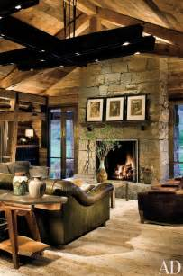 Colorado Home Decor Rustic Living Room By Studio Sofield Ad Designfile Home Decorating Photos Architectural Digest
