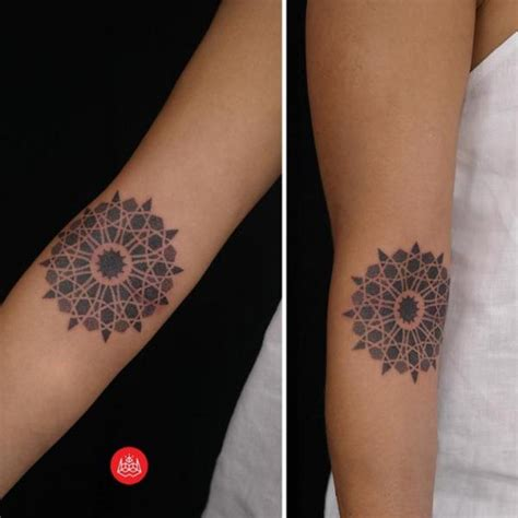 simple mandala dotwork tattoo by 2vision estudio best