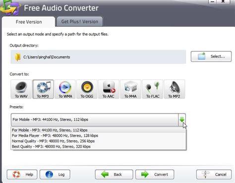 audio format converter software free download download free audio converter to convert different audio