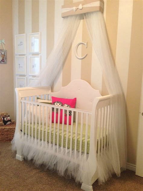 canopy crib guest bedroom nursery