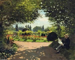 adolphe monet lecture en la jardin 1866 de claude monet