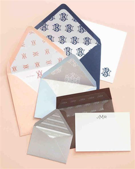 Wedding Invitation Envelope Liner How To   Martha Stewart