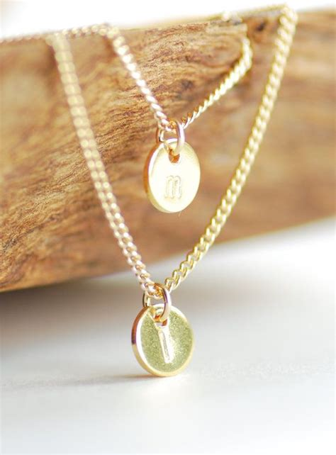 haloa necklace layered 14k gold filled initial