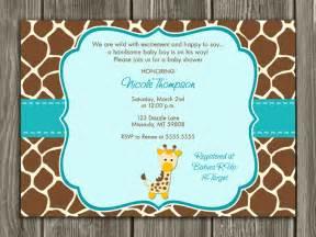 Giraffe Baby Shower Invitations Template by Printable Diy Baby Shower Invitations By Dazzle Expressions