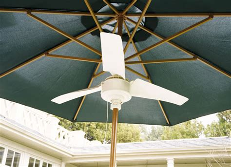 Patio Umbrella Fan Summer Blast Umbrella Fan The Green