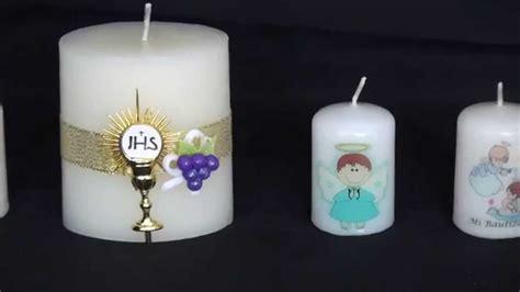 como hacer un recuerdo con vela para primera comunin velas recordatorio bautizo primera comuni