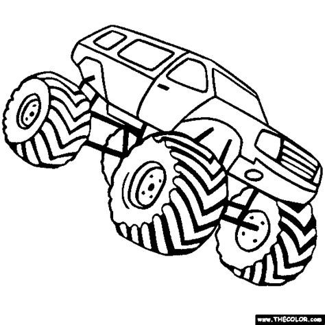 coloring pages monster truck monster truck coloring pages 4x4 truck coloring pages