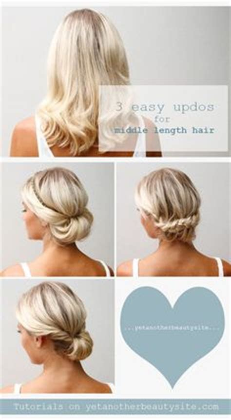 shoulderlength hairstyles could they be put in a ponytail quick and easy updo hairstyles for medium length hair i