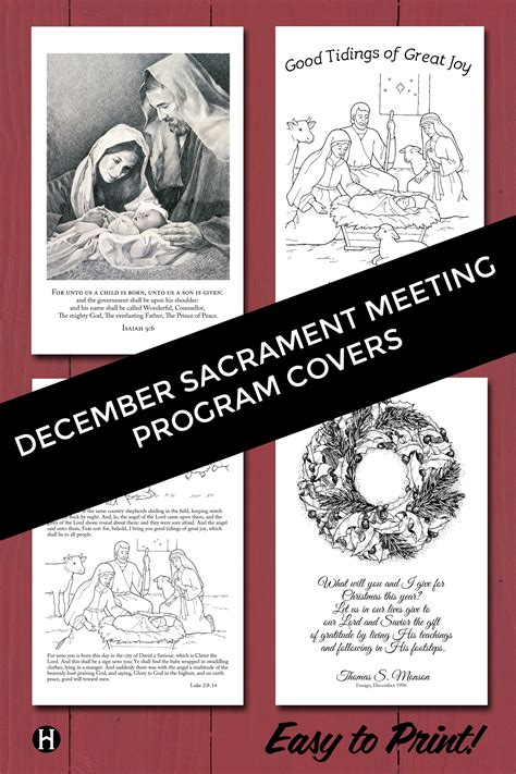 lds christmas program lds program cards