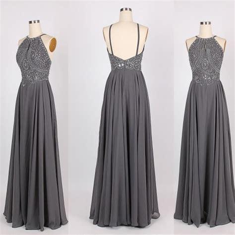Dress Grey grey prom dress backless prom dress beautiful prom dress