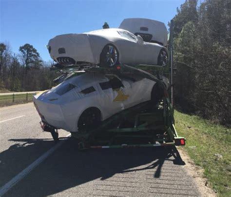 semi truck crash destroys  corvettes corvetteforum