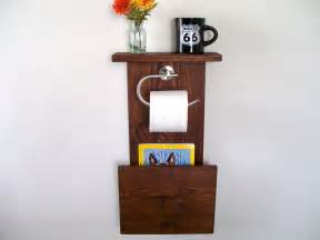 Bathroom Magazine Rack With Shelf Magazine Rack Toilet Paper Holder Bathroom Shelf By