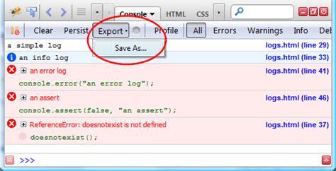 firebug console log firebug extension consoleexport send console logs to