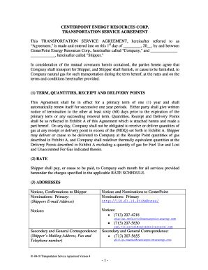 transportation contract terms  conditions edit fill