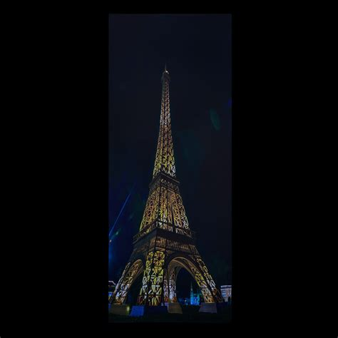 Lu Proji Jamur pro 174 led wandbild leinwand 100x40cm quot eiffelturm quot bild