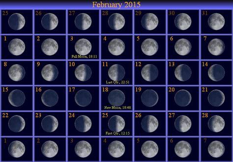 moon phases 2015 calendar february 2015 moon phase calendar astronomy
