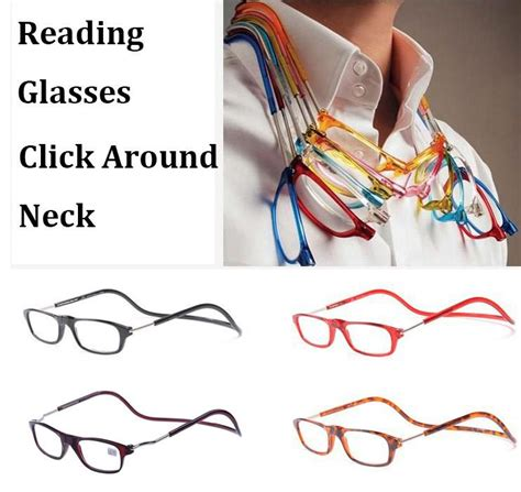 reading glasses magnetic click hang around never