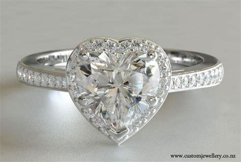heart cut rings images