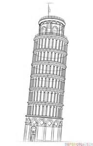 leaning tower of pisa drawing www pixshark com images