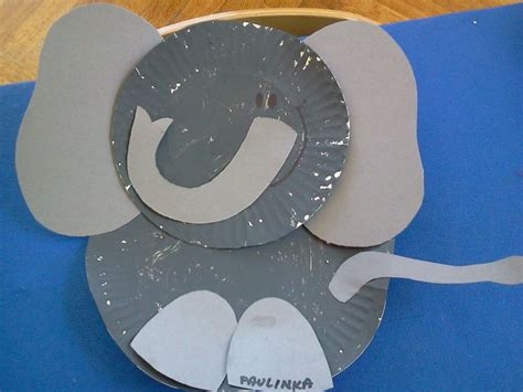 Paper Elephant Craft - paper plate elephant craft cirque