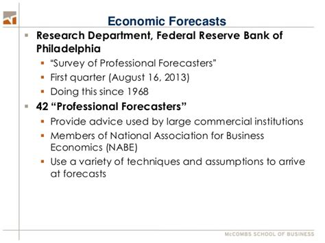 Fin 397 4 Financial Risk Management Ut Mba by Economic Forecast 2014 Hartzell Professor Of