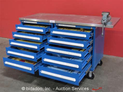 stanley vidmar 10 drawer tool cabinet shop equipment