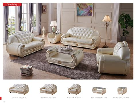 classic living room furniture sets giza full leather in beige sofas loveseats and chairs