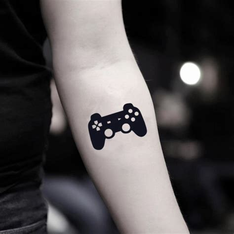 video game control temporary tattoo sticker ohmytat