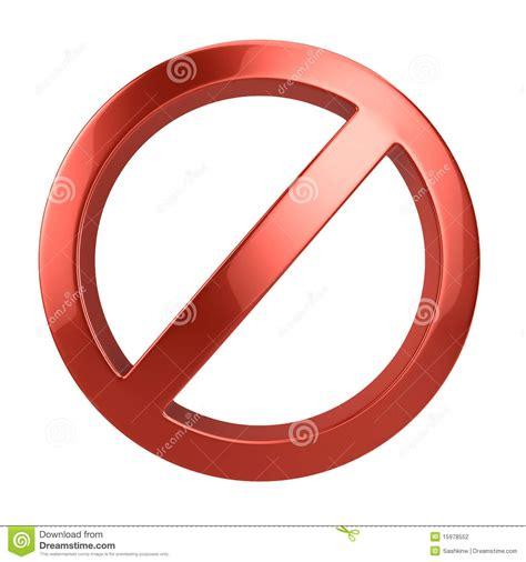 A Forbidden forbidden sign stock photography image 15978552