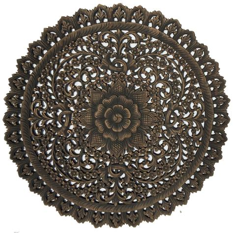 medallion wood carved wall plaque wood carved floral wall asian home decor