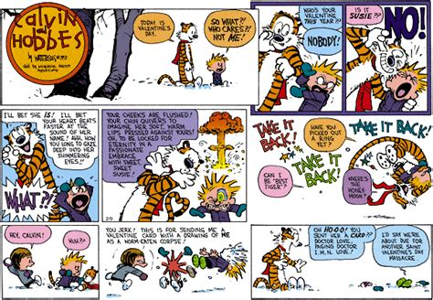 calvin and hobbes valentines day snoopy calvin and hobbes on valentines day