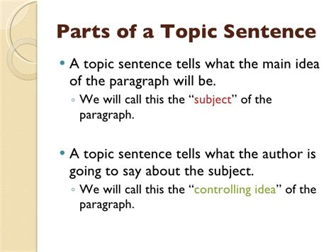 How To Make A Topic Sentence For A Research Paper - topic sentences